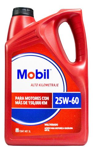 Aceite Mobil Alto Kilometraje 25w60 Case Garrafa