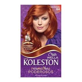 Coloração Creme Koleston Kit Acaju Acobreado 64