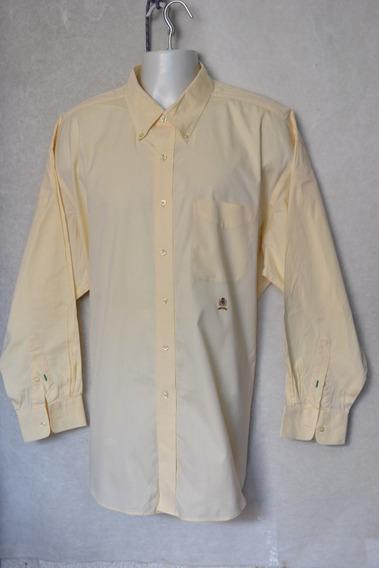 Camisa Tommy Hilfiger Talla Xxl (18-34) Original Hombre Ocre