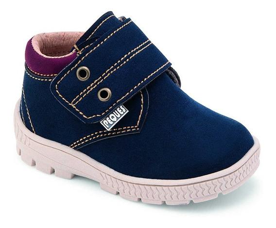 Zapato Casual Tipo Bota Para Bebé Marino Peques Shoes 5008