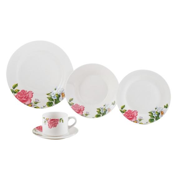 Jogo De Jantar Em Porcelana Lyor Rose 20 Peças