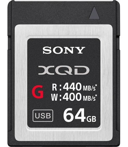Cartao De Memoria Xqd 64gb Sony Serie G 400 Mbs
