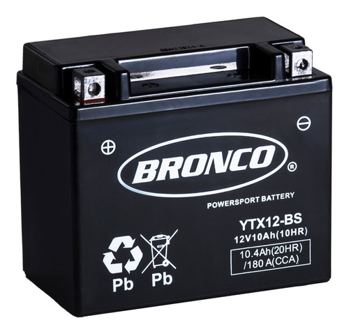 Imagen 1 de 4 de Bateria Moto Ytx12-bs De Gel Motoscba