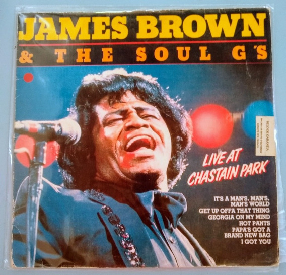 Lp James Brown & The Soul Gs Live At Chaistain Park 1990