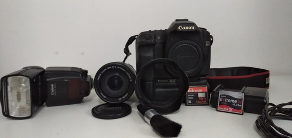 Câmera Canon 50d Com Lente 18-135 Flash 580exii E Acessórios