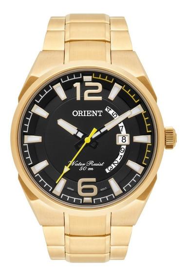 Relógio Orient Masculino Mgss1159 P2kx Dourado Analogico