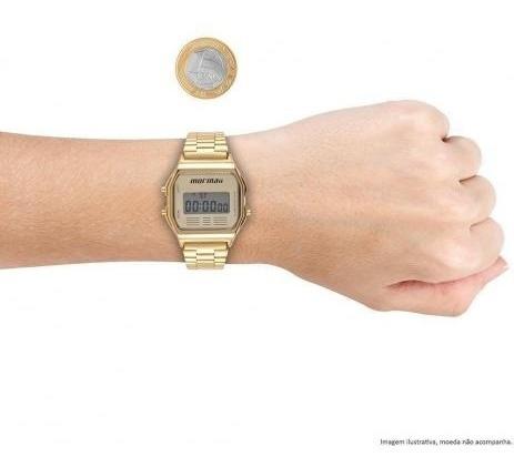 Relógio Mormaii Unisex Vintage Mojh02ab/4d Digital Dourado