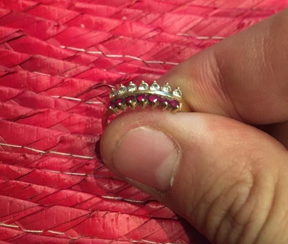 Anillo De Oro 14k, Zirconias Y Piedras Brillantes