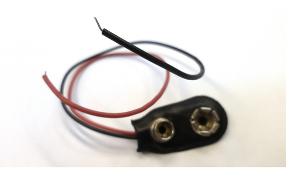 Conector Broche Pila Bateria 9v Con Cable (usado) Dz2084