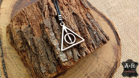Colar Harry Potter Relíquias Da Morte Giratório Unissex Geek