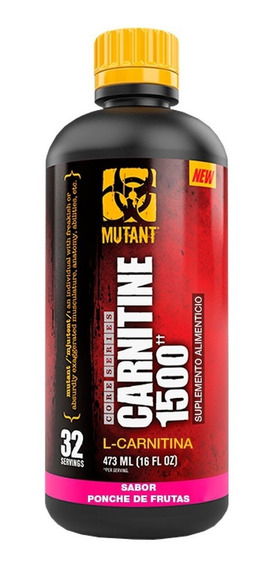 Mutant Liquid Carnitina 1500 473 Ml (32 Srvs)