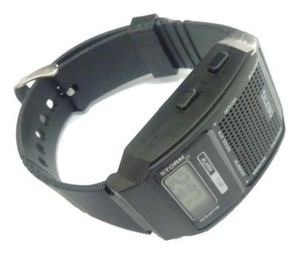Kit Relógio Despertador + Relógio De Pulso Fala Hora Para Dv