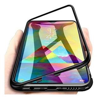 Caso Magnético Metal Lujo 360 Para Samsung Galaxia M40 Negro
