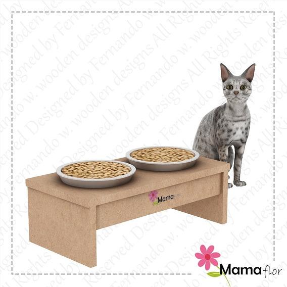 Comedouro Para Gatos - Mama Flor Designs