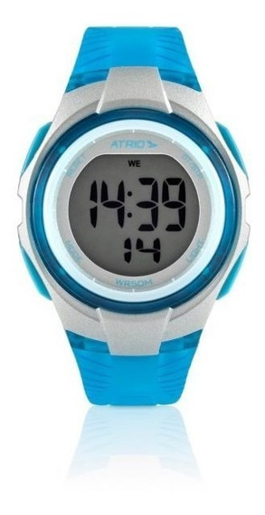 Relógio Digital Feminino Atrio Cooper Azul - Es095