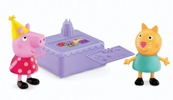 Set X2 Peppa Pig Fiesta De Cumpleaños (7.62 Cm) A1119 -a1147