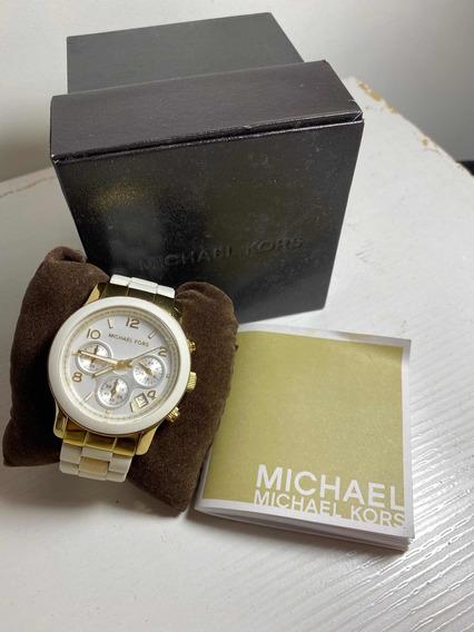 Relógio Michael Kors Borracha Branco Mk5145