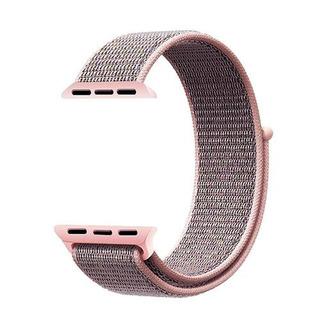 Pulseira Nylon Sport Loop Smart Watch 38mm E 40mm Rosa Areia
