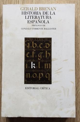 Historia de la literatura espanola.