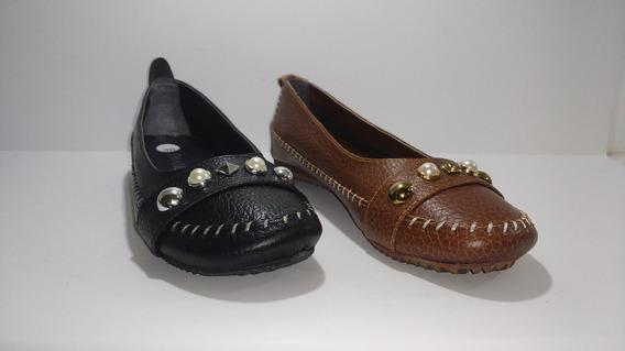 Chatitas Ballerinas Zapatos Mujer Cuero A.1525