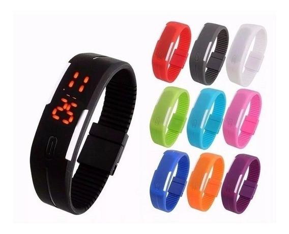 Kit 5 Relógios Led Digital Sport Bracelet Pulseira Silicone
