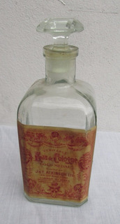 Antiguo Frasco Eau De Cologne, Colonia Atkinson, Gold Medal