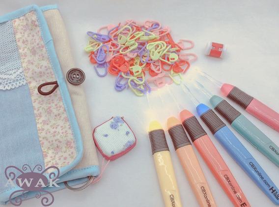 Set Aguja Crochet Con Luz Led