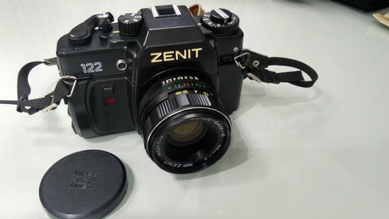 Maquina Fotografica Analogica Zenit 122 Lente Helios 44m-4