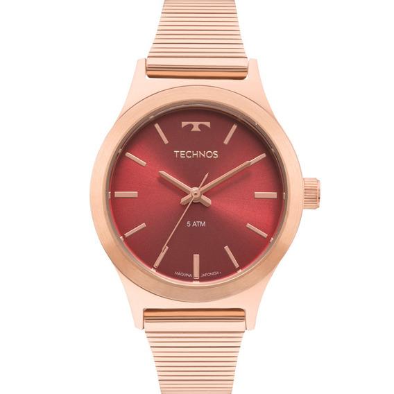 Relógio Technos Feminino Elegance Original Nota 2035mqi/5r