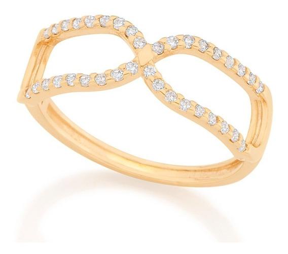 Anel Skinny Ring Símbolo Do Infinito Rommanel 512678