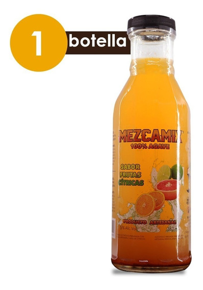 Mezcamix Cítricos Destilado De Agave Con Jugo Por Botella