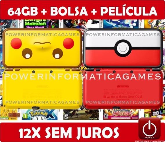 New 2ds Xl 64gb 4000 Jogos + Bolsa + Película + Fonte