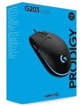 Mouse Gamer Logitech G203 Prodigy 8000dpi Rgb Com Nf