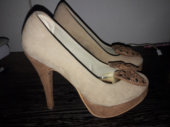 Zapatis Stilettos Color Beige