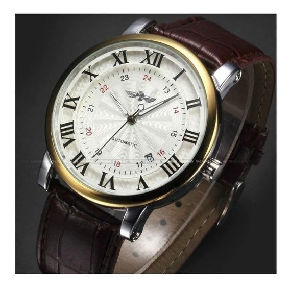 Relógio Masculino Automático Winner Golden