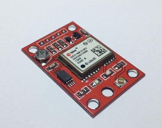 Módulo Gps Red Ublox Gy Neo6mv2 Neo-6m Gps Eeprom Mwc Apm2.5