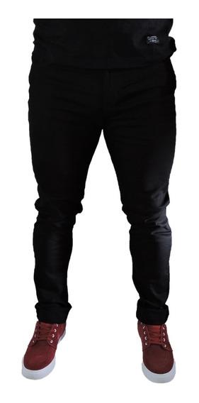 Pantalon Jeans Dark Spandex Spy Limited Chupin Negro Hombre