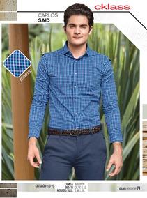 Camisa Slim Fit Cudros Cklass P/hombre 985-18 Pv-2019