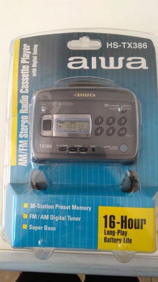 Walkman Aiwa Hs-tx386 Na Caixa Toca Fitas Rádio Am Fm