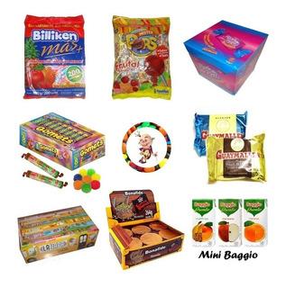0019- Combo Golosinas 30 Chicos Mini Jugos Baggio Candyshop