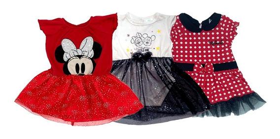 Kit 3 Vestidos Disney Minnie A Precio De 2.