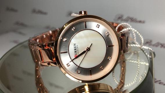 Relógio Feminino Pulso Curren 9051 Quartzo Esportivo C3883