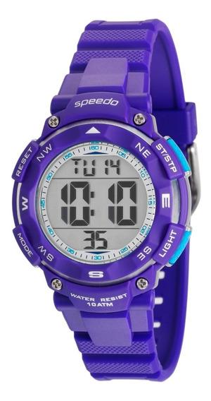 Relógio Speedo Feminino Digital Roxo Esportivo Original