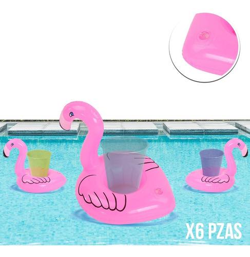 Imagen 1 de 5 de 6 Portavasos Flamingo Inflables Fiesta Alberca Piscina Play