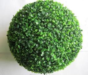 2 Buchinho Artificial 15 Cm - Bolas Gramas Buchinhos Verdes