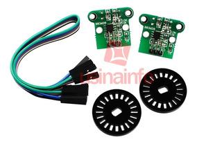 Sensor De Contagem Duplo / Chave Óptica + Discos Encoder -