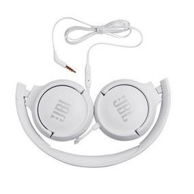 Fone De Ouvido Pure Bass Sound Branco Com Microfone Jbl T500