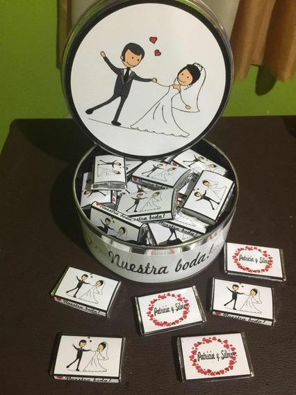 Lata Con Chocolates Personalizados Para Casamiento