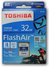 Cartão De Memória Wifi Toshiba Flashair 32gb W-04