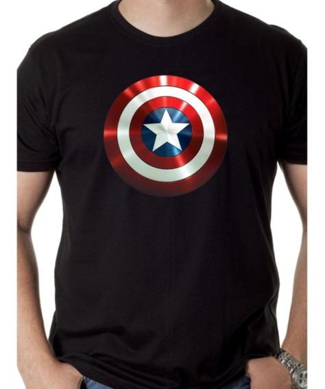 Camisa, Camiseta Escudo Capitão América